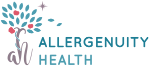 Allergenuity Health bold logo